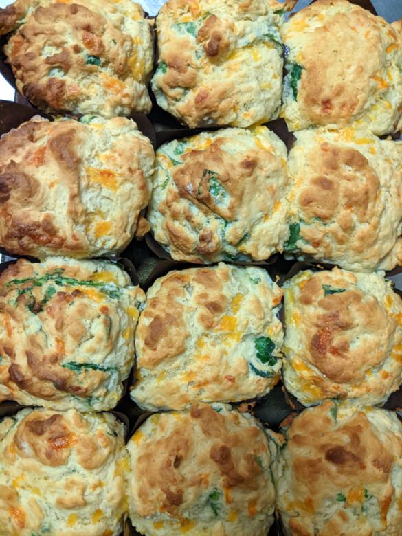 Cheddar Spinach Muffins
